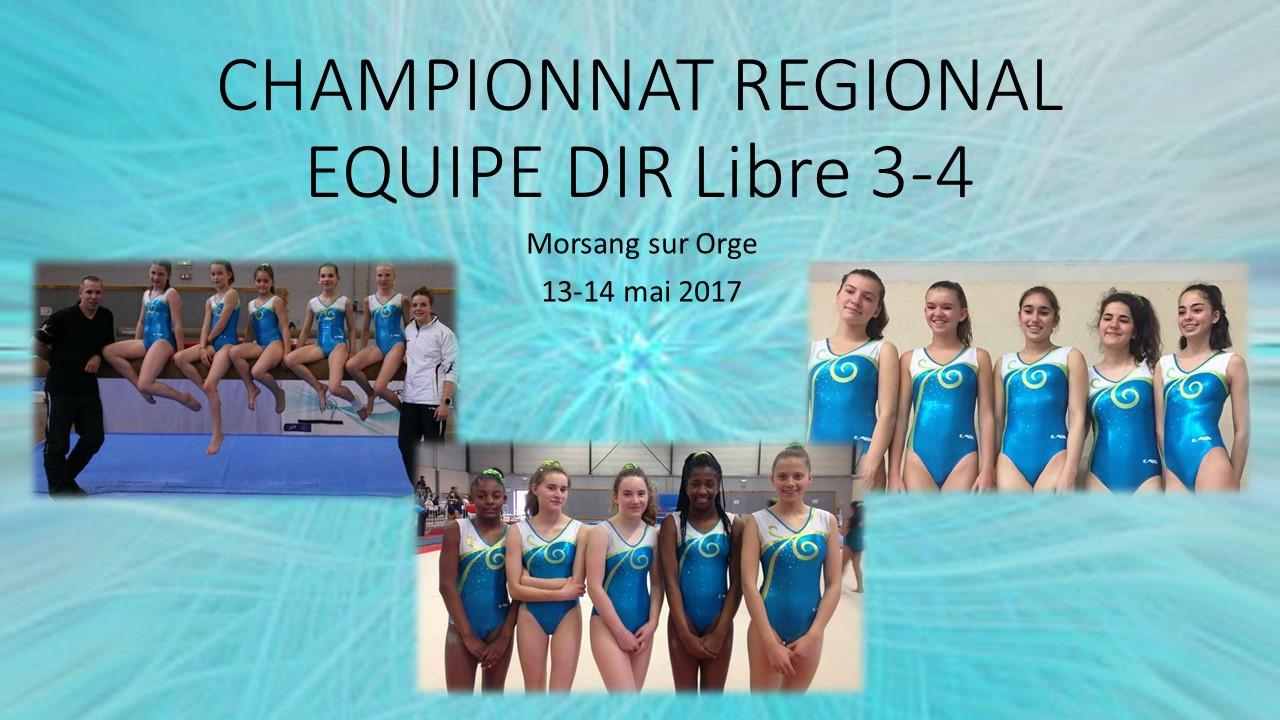 GAF: Championnat Régional equipe DIR Libre 3 et 4