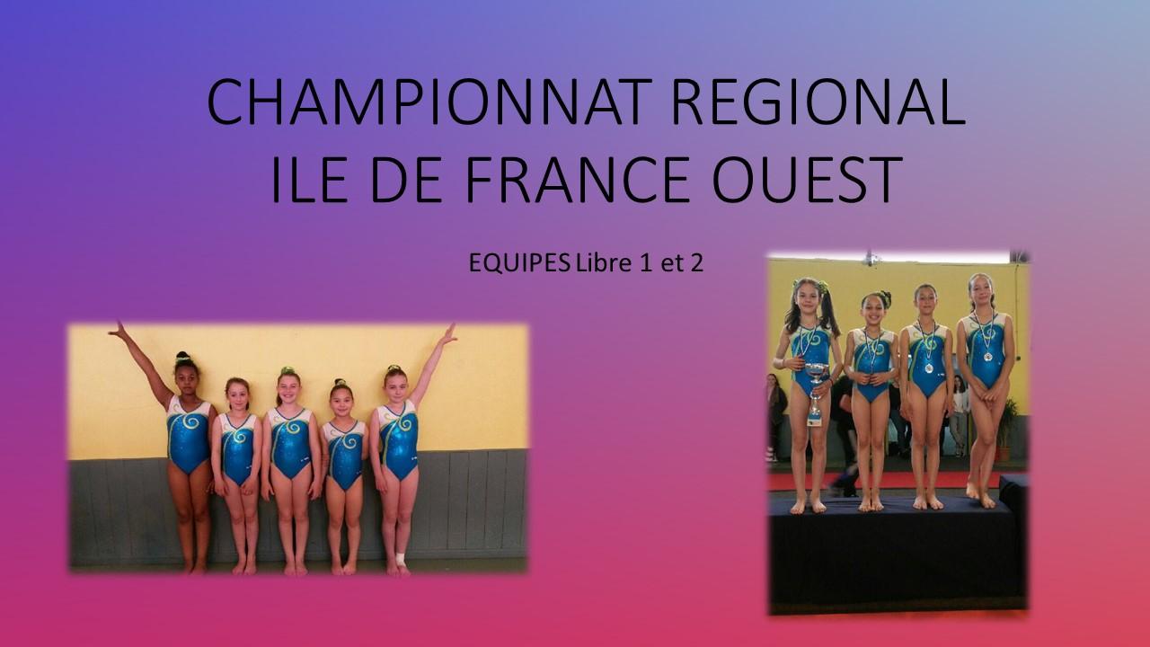 GAF: Championnat Régional Equipe DR Libre 1 et 2