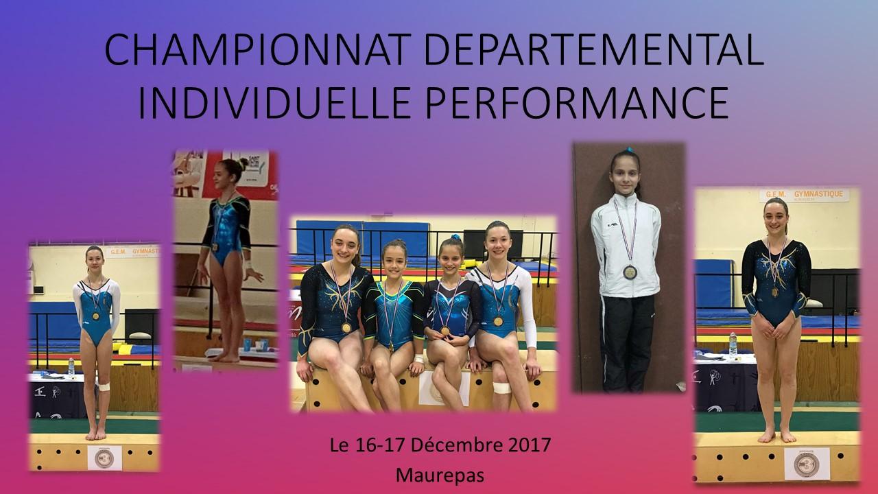 GAF: Championnat Départemental Individuelle Performance
