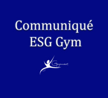 Communiqué ESG Gym - Point de situation Covid-19